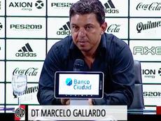 Gallardo lamentó la derrota ante Unión Santa Fe. Captura/TNTSports