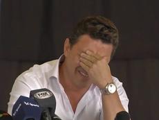 La emoción de Gallardo al regresar a su escuela. Captura/ESPN