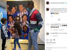 Quaresma felicitó a su hijo por fichar por el Oporto. Instagram/Ricardoquaresmaoficial