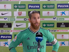 Ramos instó a sus compañeros a no relajarse. Captura/Movistar