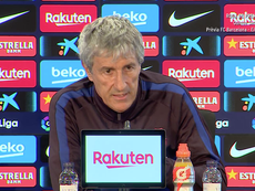 Setien says Barcelona are not distracted by off-field issues. Screenshot/FCBarcelona