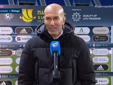 Nous avons mal commencé le match, regrette Zidane. Captura/Vamos
