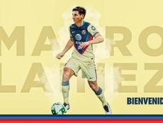El América anuncia a Mauro Lainez, su primer refuerzo para 2021. Twitter/ClubAmerica