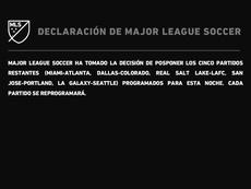La MLS se suma las protestas contra el racismo y suspende cinco partidos. Twitter/MLS