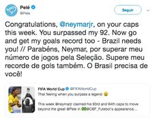 Pelé le lanzó un desafío a Neymar. Pelé