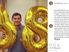 Casillas subió una imagen a sus perfiles sociales. IkerCasillas