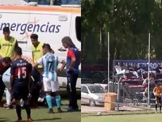 Insólito partido entre Tigre y Racing. Captura/ESPN