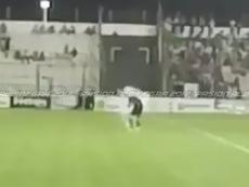 Matías Cano recibió el impacto de un petardo en uno de sus oídos. Twitter