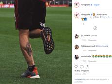 Quintero se tatuó la final de Madrid. RiverPlate