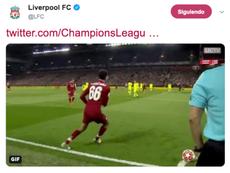 El Liverpool volvió a recordar el córner de Alexander-Arnold. LFC