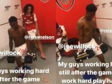 El Arsenal va en serio. Captura/Aubameyang