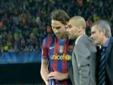 Mourinho reveló lo que le dijo a Guardiola en el Barça-Inter. Captura/RTVE