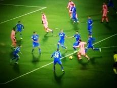 Messi dejó una estampa para el recuerdo. Captura/Movistar