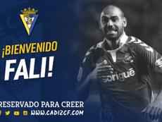 El Cádiz se ha hecho con la cesión de Fali. Cadiz_CF