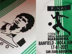 Banfield enseñó en su Twitter la camiseta para la final. Twitter/CAB_oficial