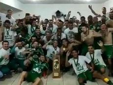 El título de todos: Chapecoense fue campeón cuatro años después de su tragedia. Twitter/Chapecoense