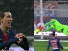 Di María et Areola, décisifs face à Lyon. Capture BT Sport