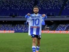 Insigne segna il gol del vantaggio. Movistar+