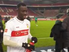 Su 'hobby' es el gol: el congoleño que va para estrella en la Bundesliga. Twitter/Stuttgart