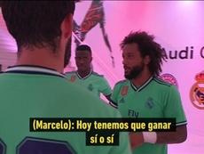 Marcelo actuó de capitán en el túnel. Captura/RealMadridTV