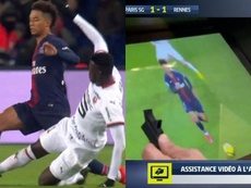 Niang voit le jaune de l'action. Capture/BeINSports