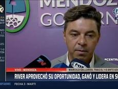 Gallardo habló de la presión y Enzo, del título. Captura/FOXSports