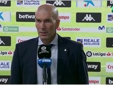 Zidane dio su opinión sobre la actuación arbitral. Captura/Movistar+
