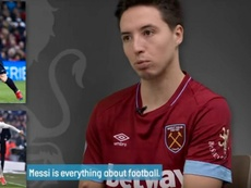 Nasri entrou no eterno debate. Captura/WestHam