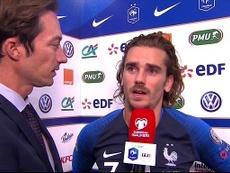 Griezmann hizo autocrítica tras el penalti fallado. Captura/TF1