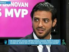 Vela habló tras recibir el 'MVP' de la MLS. Captura/TUDN