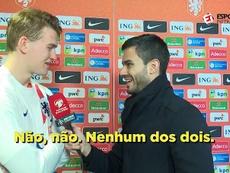 De Ligt smiled when asked the question. Captura/EsporteInterativo