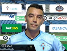 Iago Aspas, crítico tras la derrota ante el Levante. Captura/Movistar+