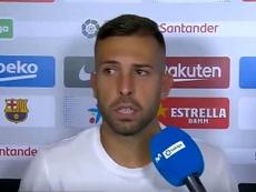 Jordi Alba habló tras el triunfo del Barça ante el Betis. Captura/Movistar+