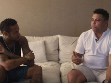 Ronaldo justified Neymar's diving. Screenshot/Otro
