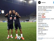 Neymar y Paulinho son compañeros de la Selección Brasileña. IG/Neymar