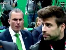 Javier Ortega Smith se nega a cumprimentar o jogador do Barça. Captura/ElChiringuitoDeJugones