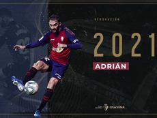 OFICIAL: Osasuna renueva a Adrián López un año más. CAOsasuna