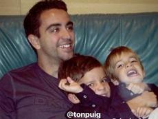La felicitación de Riqui a Xavi por su cumpleaños. Instagram/RiquiPuig