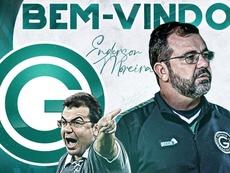 Enderson Moreira, nuevo técnico de Goiás. Twitter/goiasoficial