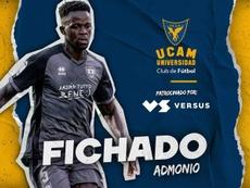 El UCAM Murcia incorpora a Admonio. Twitter/UCAMMurcia