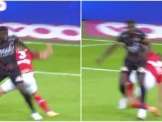 Zinho Vanheusden got injured. Screenshot/Eleven1