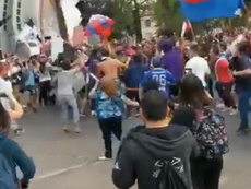 Hinchas de la 'U', Católica y Colo Colo se unieron en las protestas. Captura/albo013