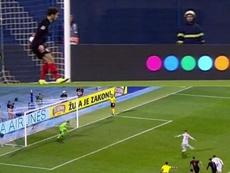 Ramos no falló desde los once metros. Captura/La1