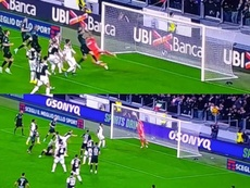 La flor de la Juve y al ángel de Buffon. Captura/Movistar+