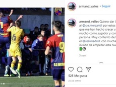 Real Madrid have signed Armand Vallés. Instagram/Armand_valles