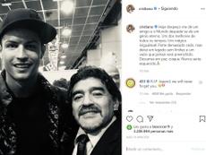 Maradona falleció a los 60 años. Instagram/cristiano