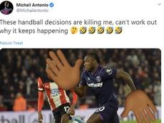 A Antonio le anularon otro gol. Captura/MichailAntonio