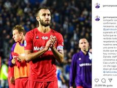 Bonne nouvelle pour la Fiorentina. Instagram/germanpezzella