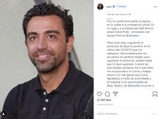 Xavi Hernandez tests positive for COVID-19. Instagram/xavi