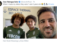 Fàbregas destacó la juventud de los dos jugadores. Twitter/CescFàbregasSoler